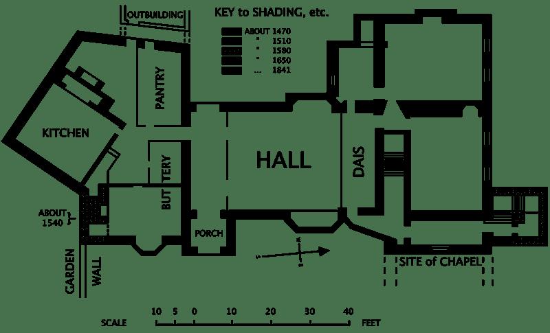 Blueprint of Horham Hall