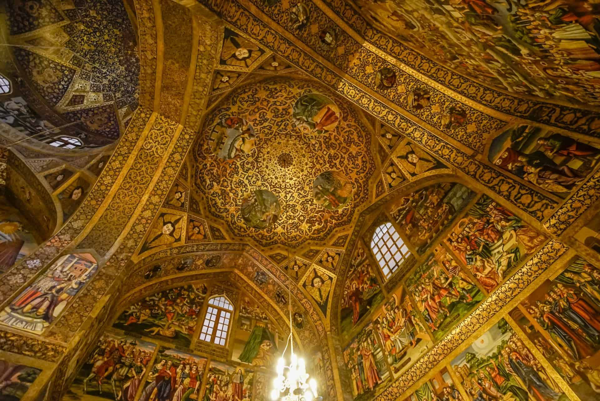 Inside the Vank Cathedral, Isfahan, Iran