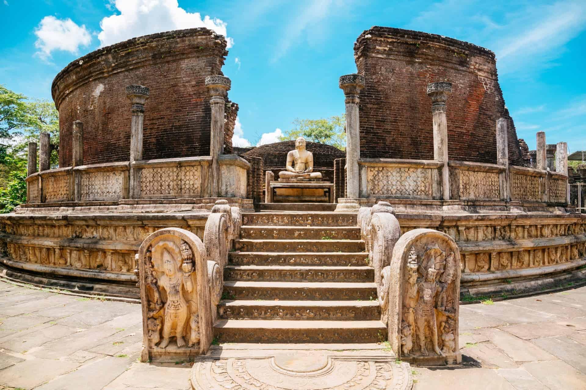 The Vatadage temple in Polonnaruwa Sri Lanka