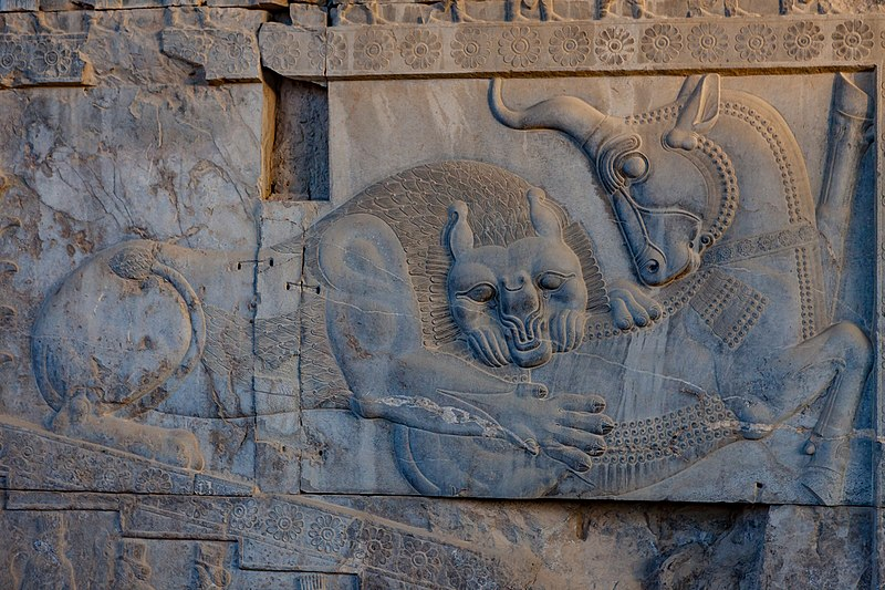 Stone carvings at the ancient capital of Persepolis - they date back to 515 BC