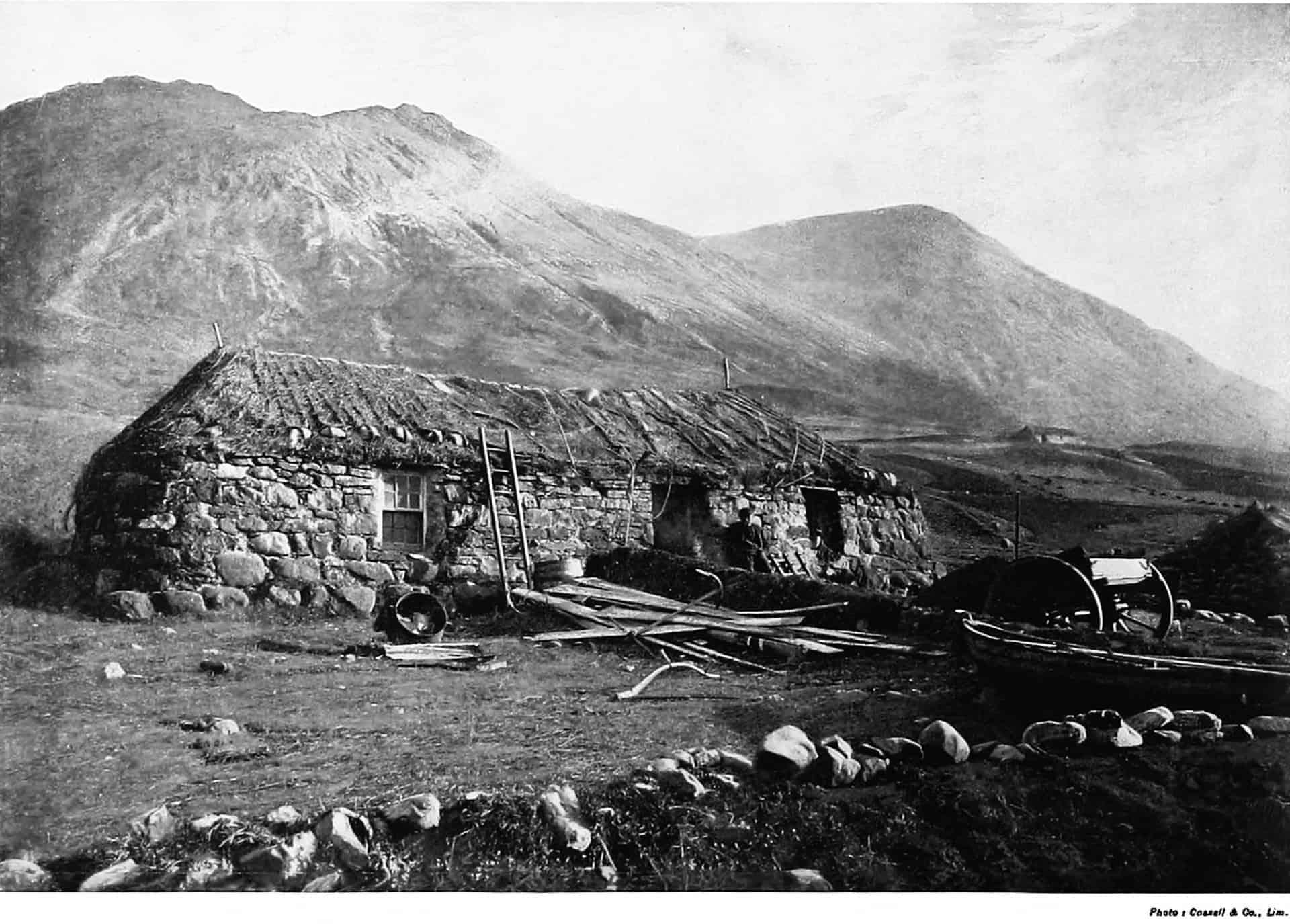 A crofter's home in the Isle of Skye, Scotland