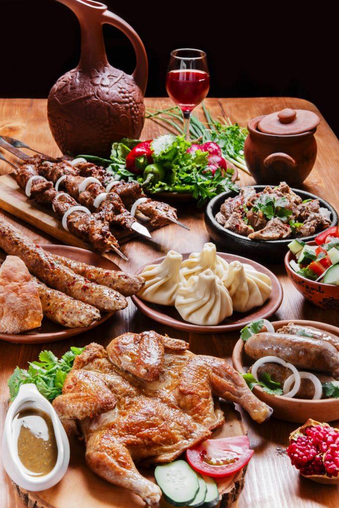 A typical Georgian spread