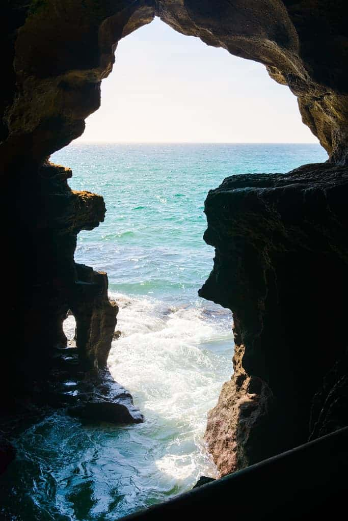 The Caves of Hercules and the amazing view of the Atlantic Ocean