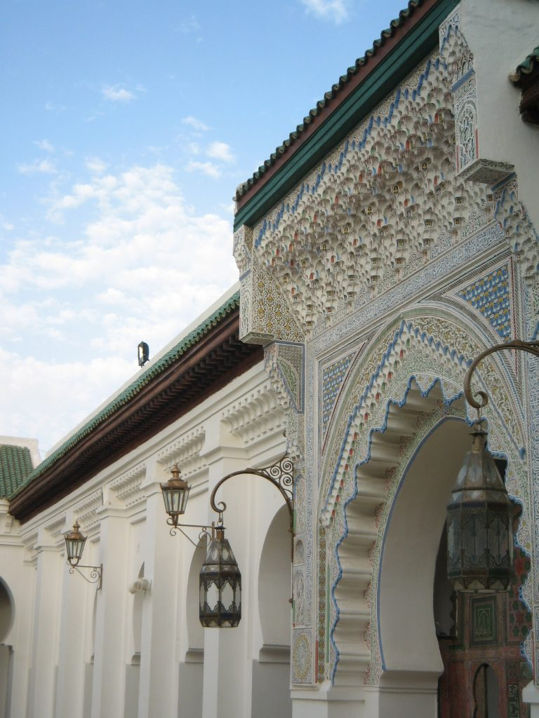 An image featuring the ornate tile-work at the Qarawiyyin