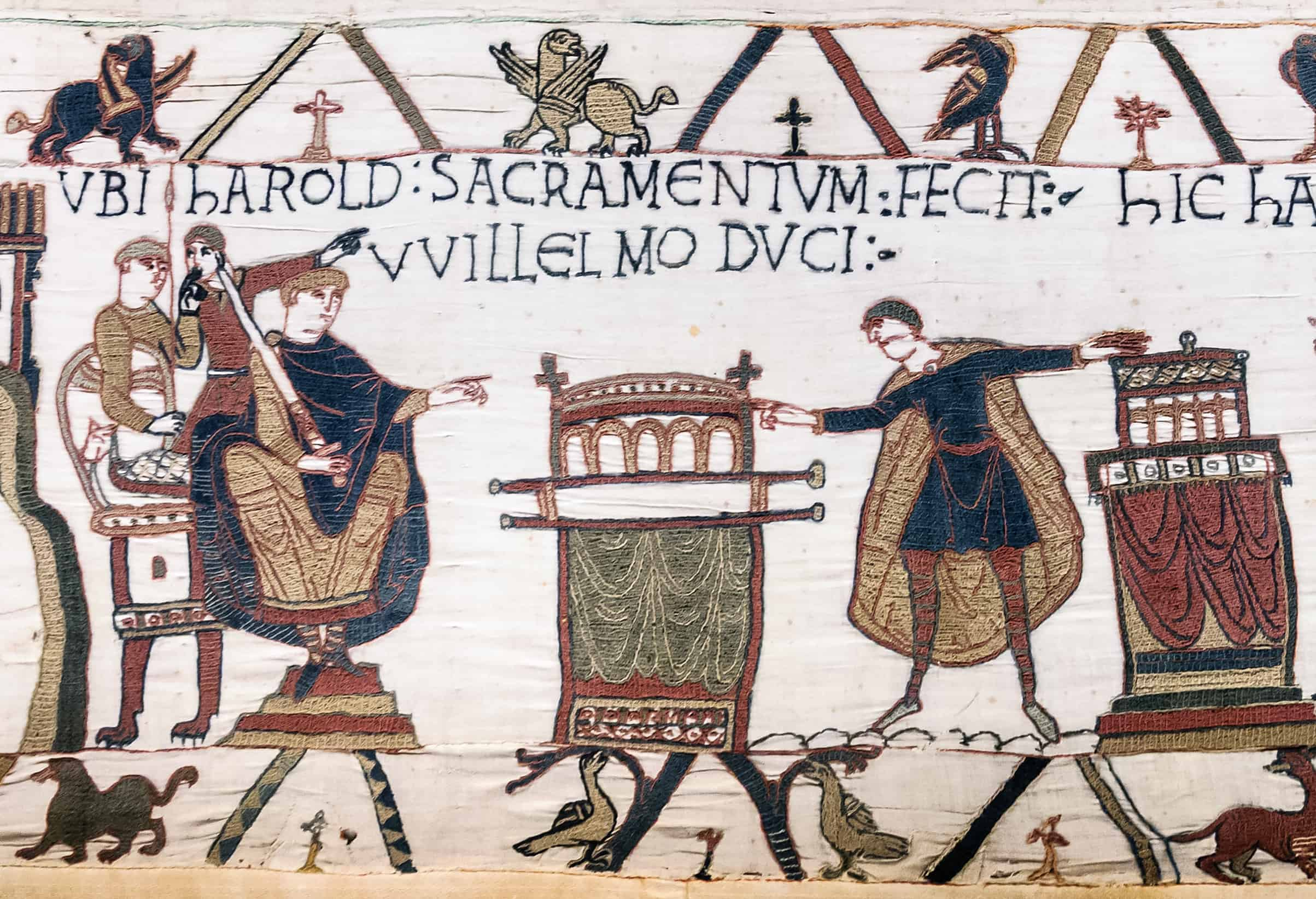Harold swearing an oath to William of Normandy