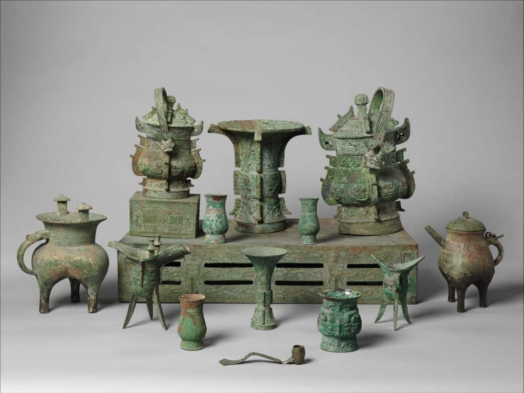 Bronze altar set Zhou Dynasty late 11th century