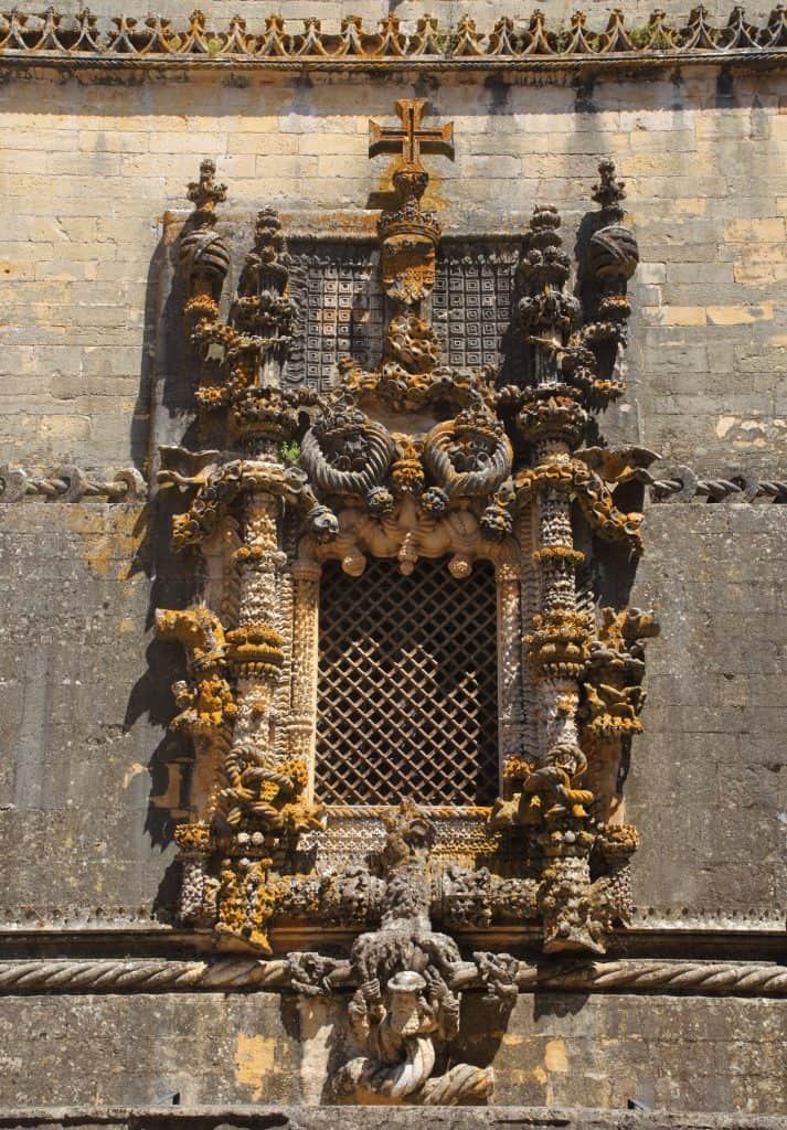 Chapter house window in the Convent of Christ, Tomar, Portugal