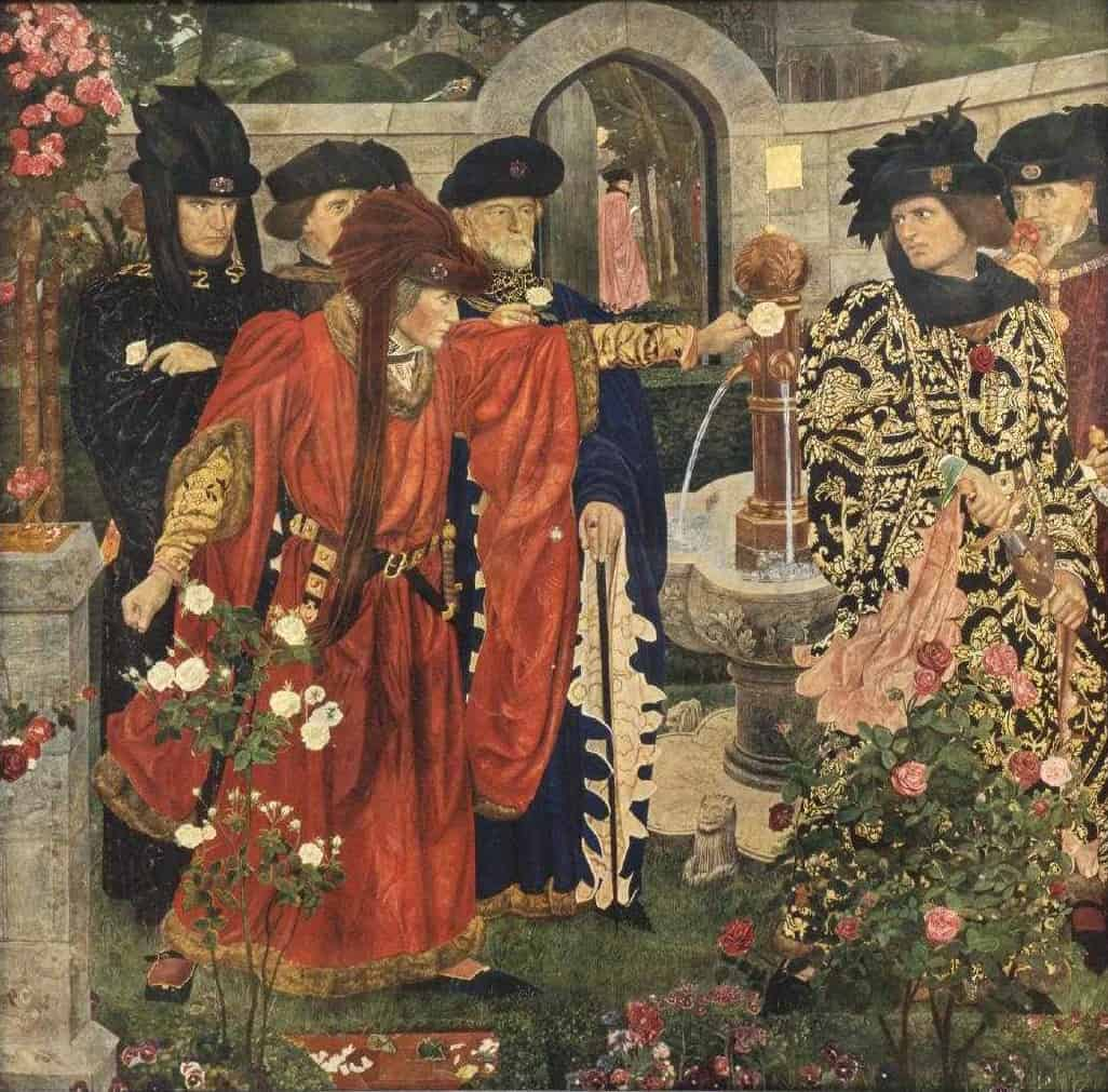 Plucking the Red and White Roses by Henry Payne