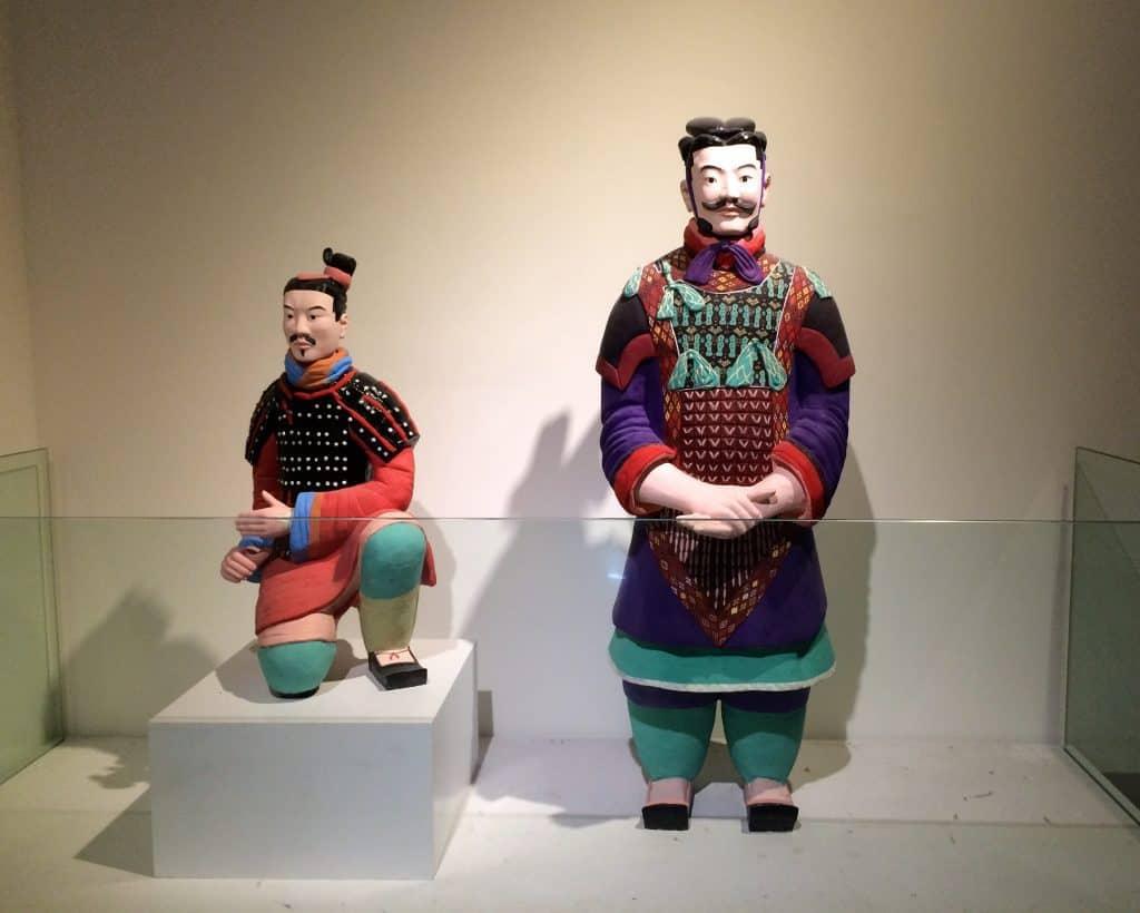 Terracotta warriors in colour