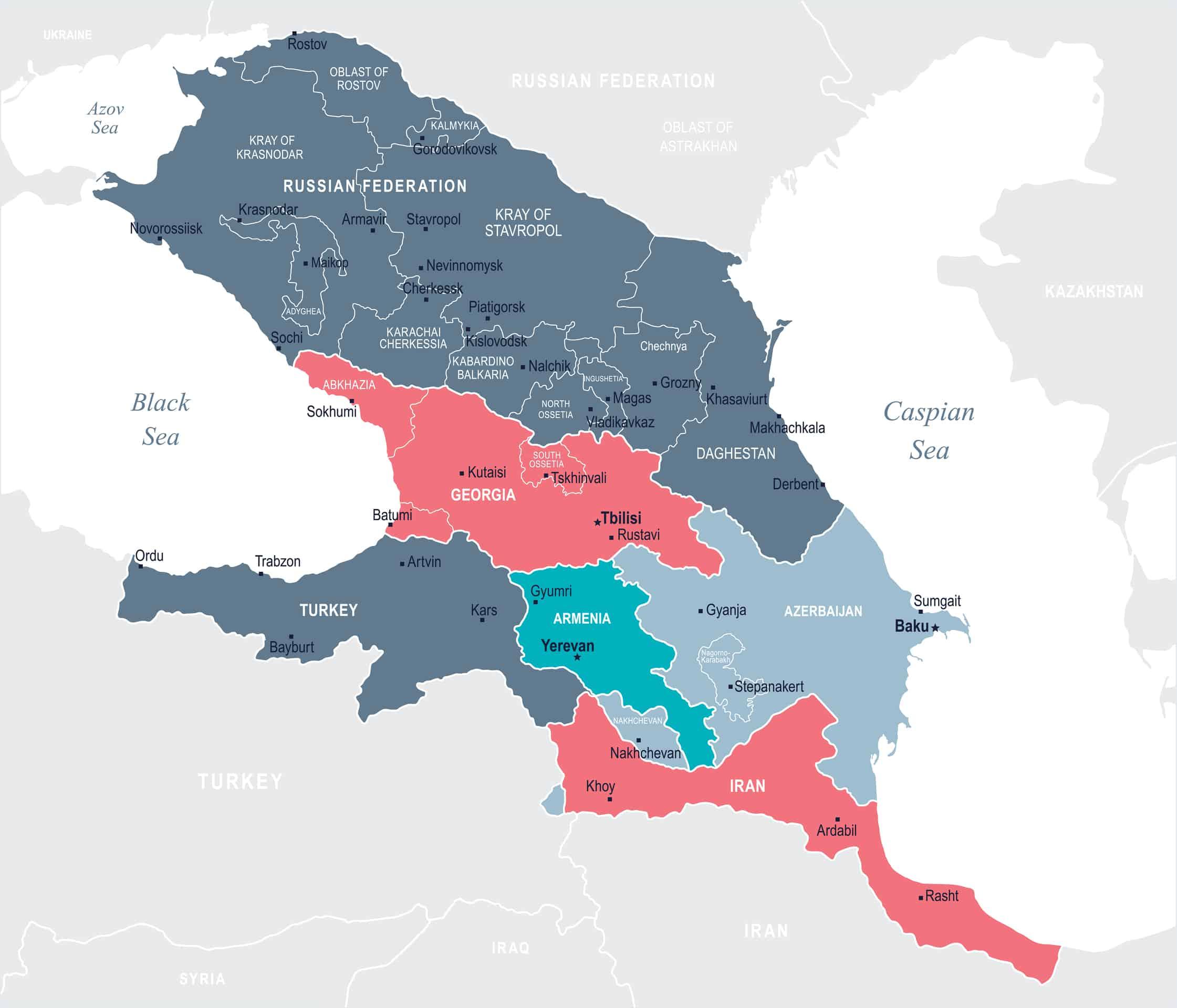 Caucasus Region Map