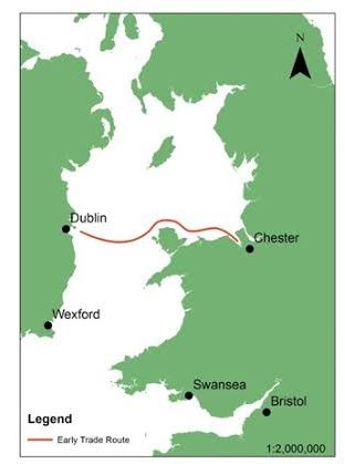 The trade route between Dublin and Chester