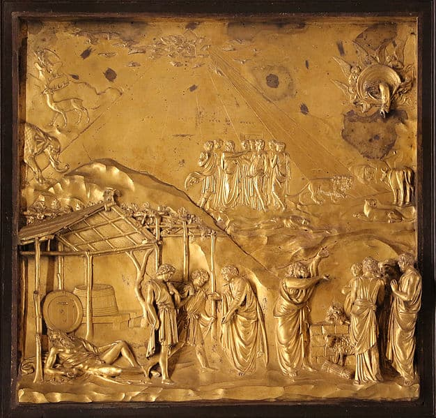 Part of Ghiberti's bronze doors, The Gates of Paradise