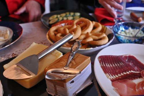 Brunost, the brown cheese, is usually served with a slicer so it can be eaten shaved