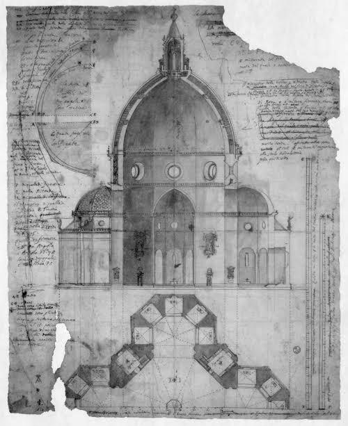 Cigoli's drawing of Brunelleschi's Santa Maria del Fiore