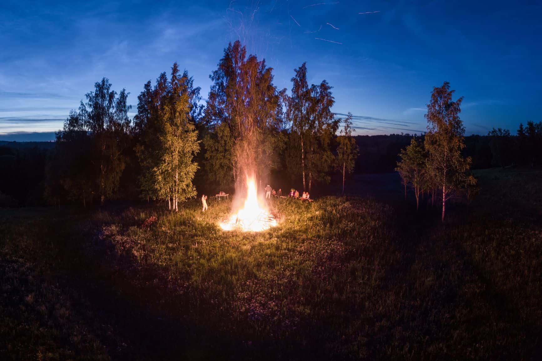 Latvia Midsommar Fire