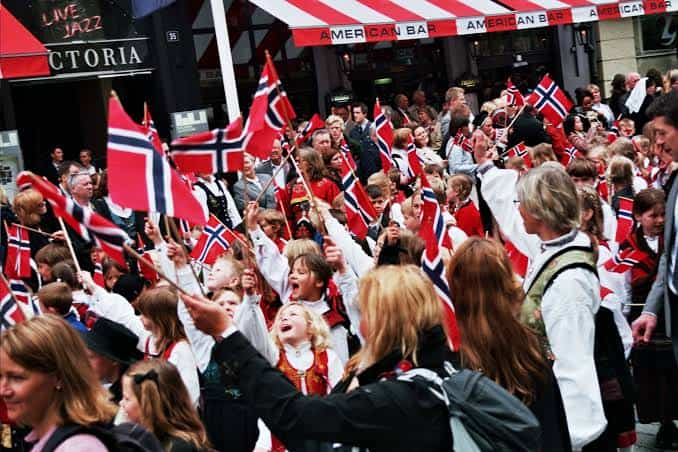 Norwegians celebrating on Independence Day, 17 May