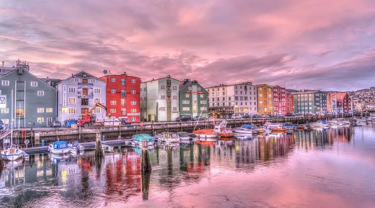 A sunrise in Trondheim, Norway
