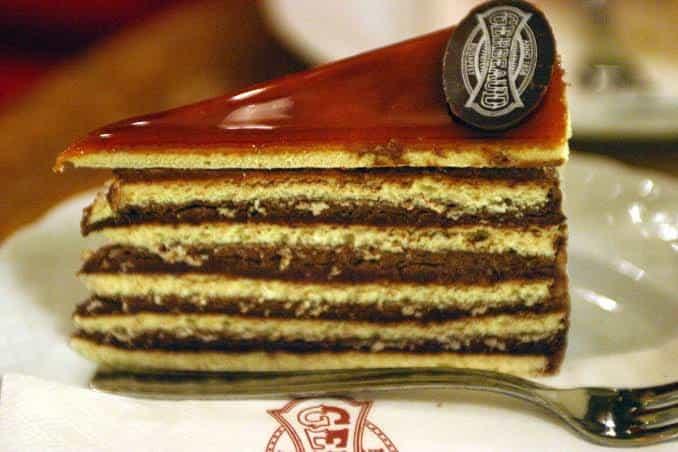 A slice of dobostorta