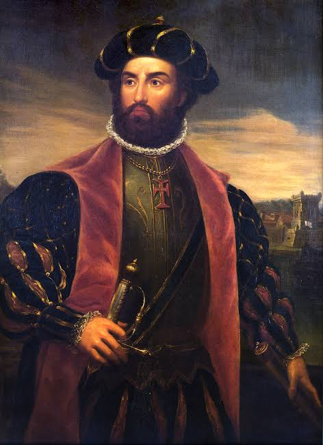 A painting of Vasco da Gama, a Portuguese explorer and the first European to reach India by sea