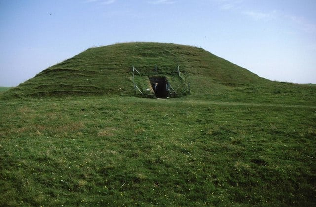 The entrance to the passage at Maeshowe