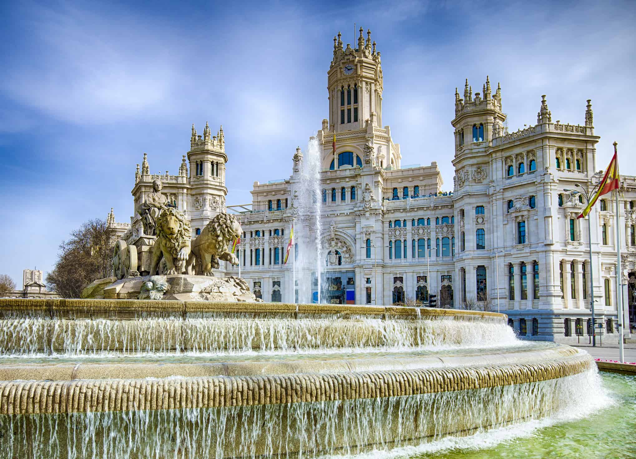 Cibeles Fountain In Downtown Madrid