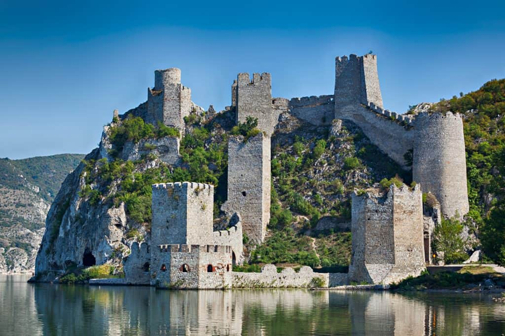 Old medieval fortification Golubac, Serbia in September 2009, before reconstruction