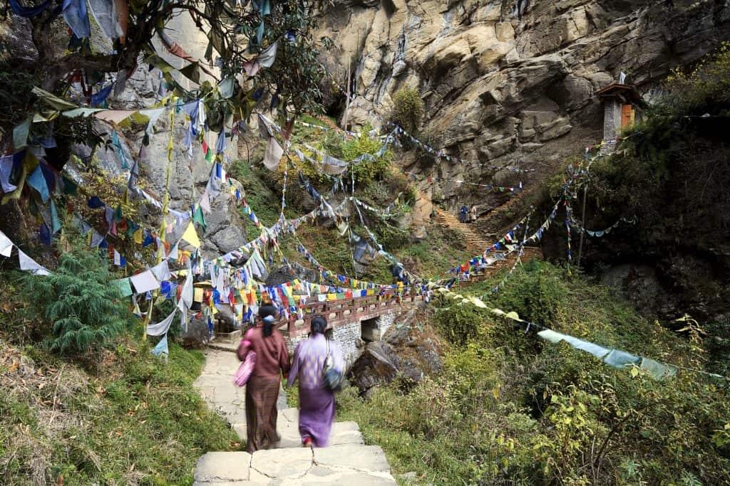 Path Towards The Tigers Nest Bhutan