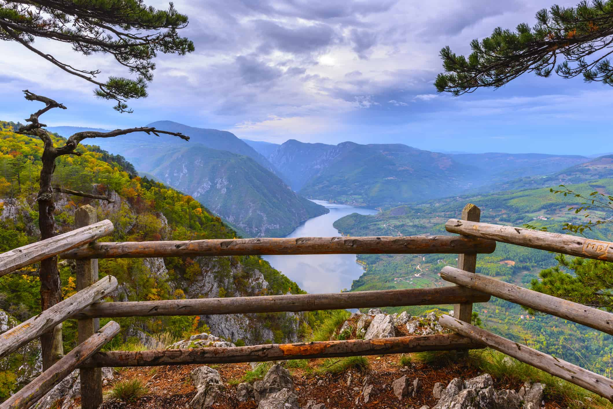 Banjska stena viewpoint at Tara National Park, Serbia