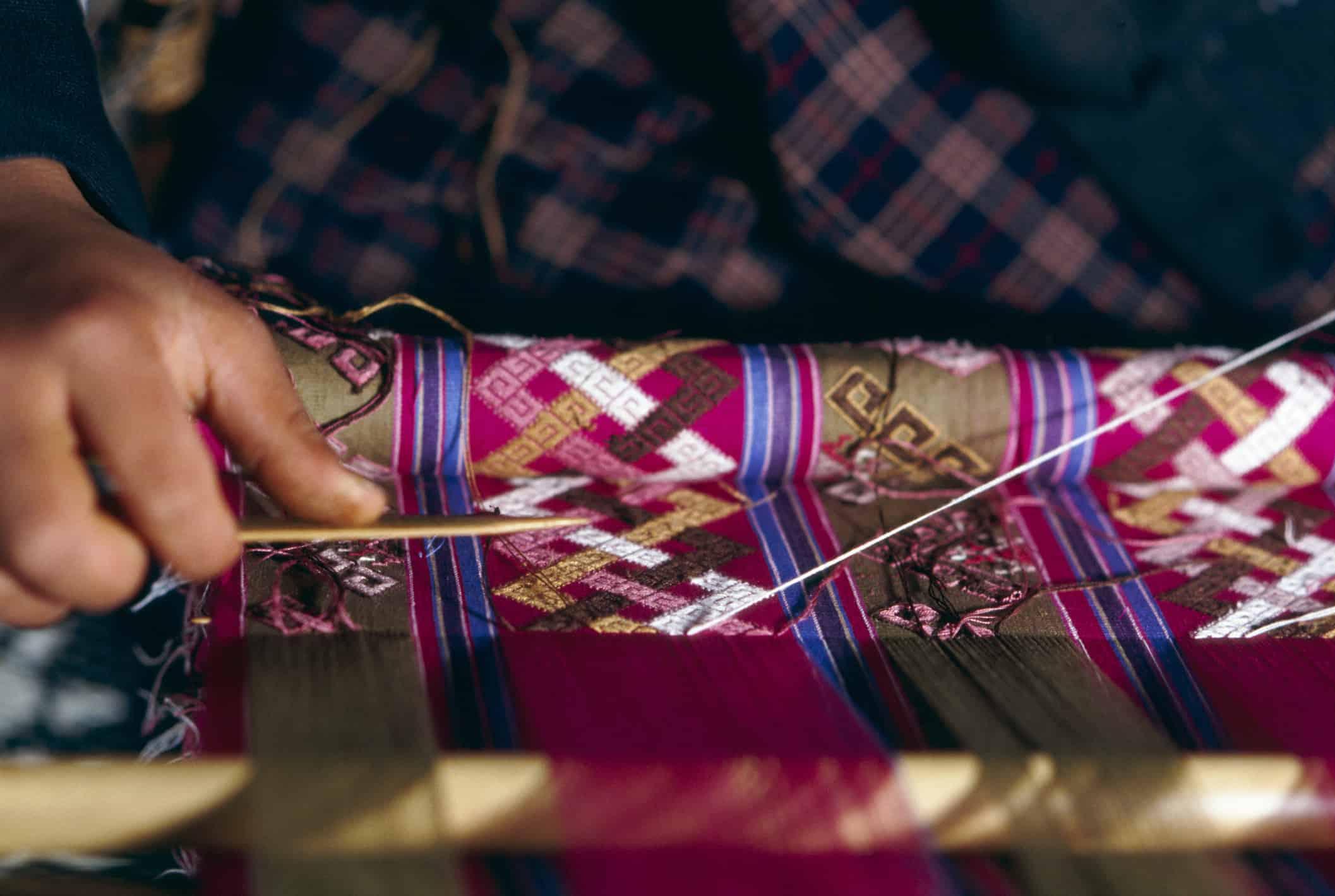 Traditional weaving, Khalling weaving center.