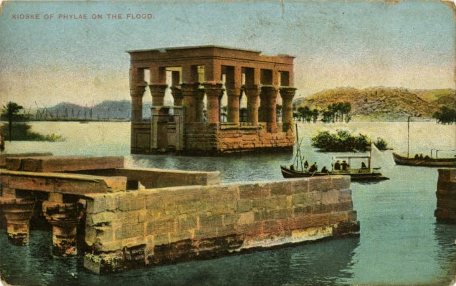 Philae Temple during a flood