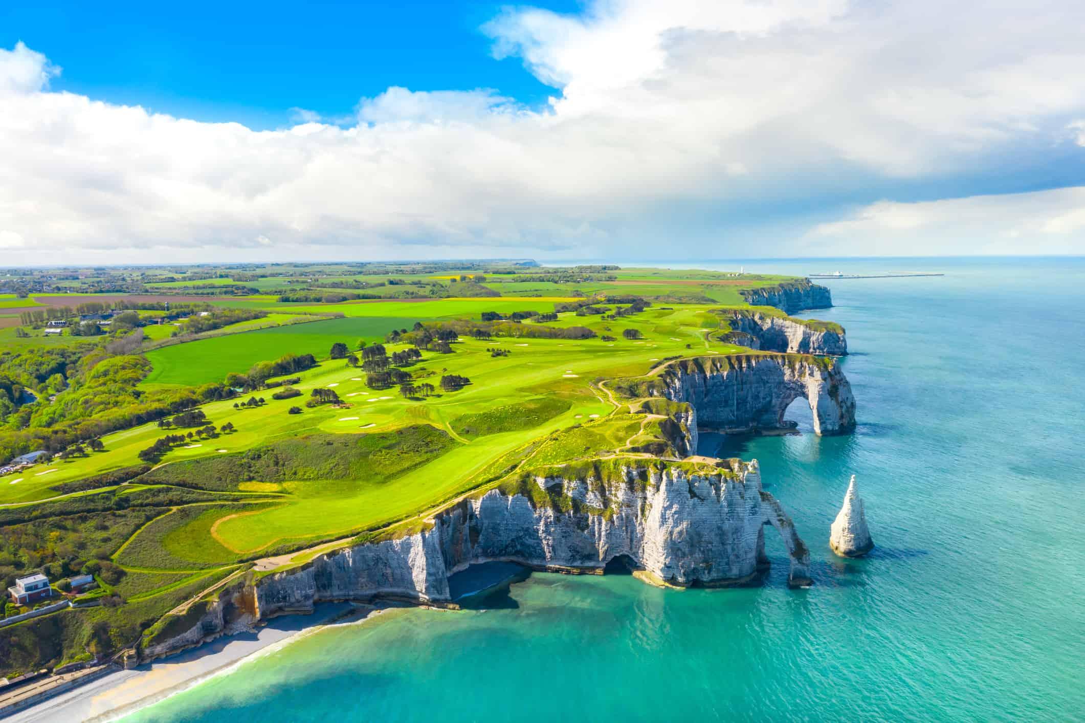 The cliffs of Pays de Caux, Normandy, France