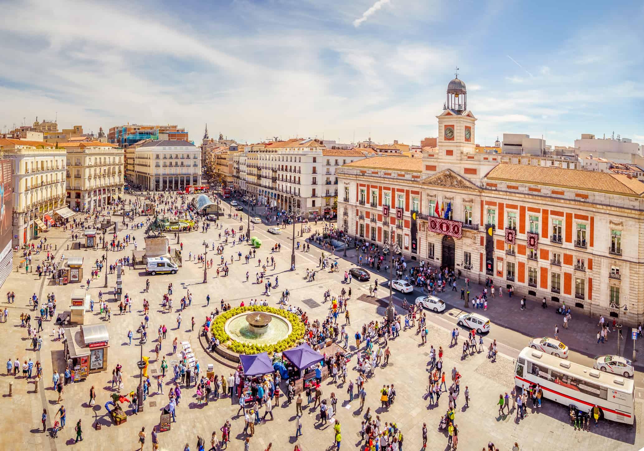 La Puerta del Sol from Above