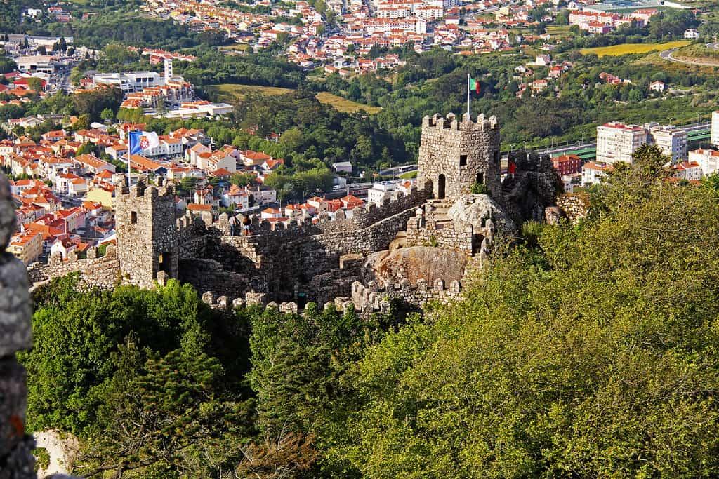 The Moorish Castle presiding over Sintra