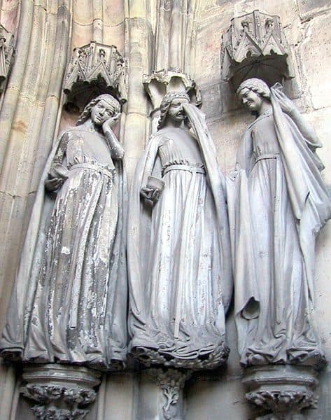 five wise and the five foolish virgins,