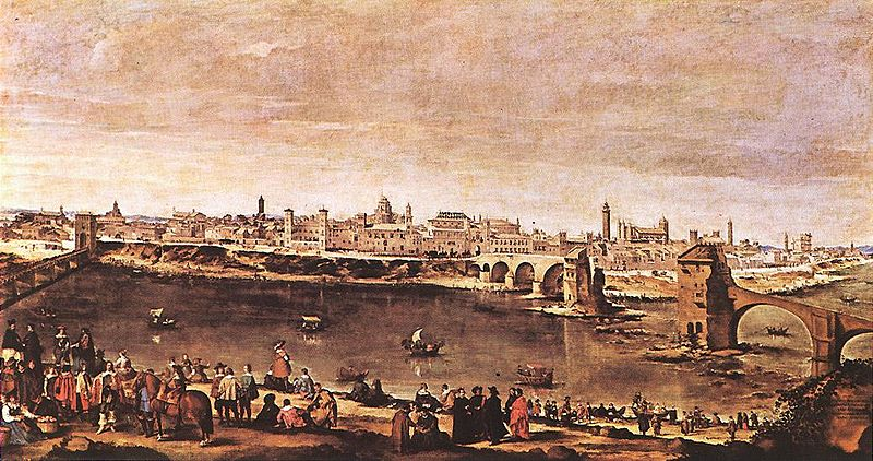 A painting of Zaragoza by Juan Bautista del Mazo, painted in 1647