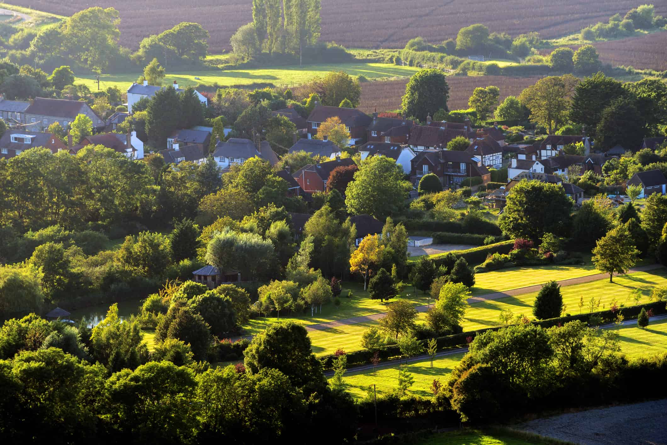 A Village in the South Downs, England, UK