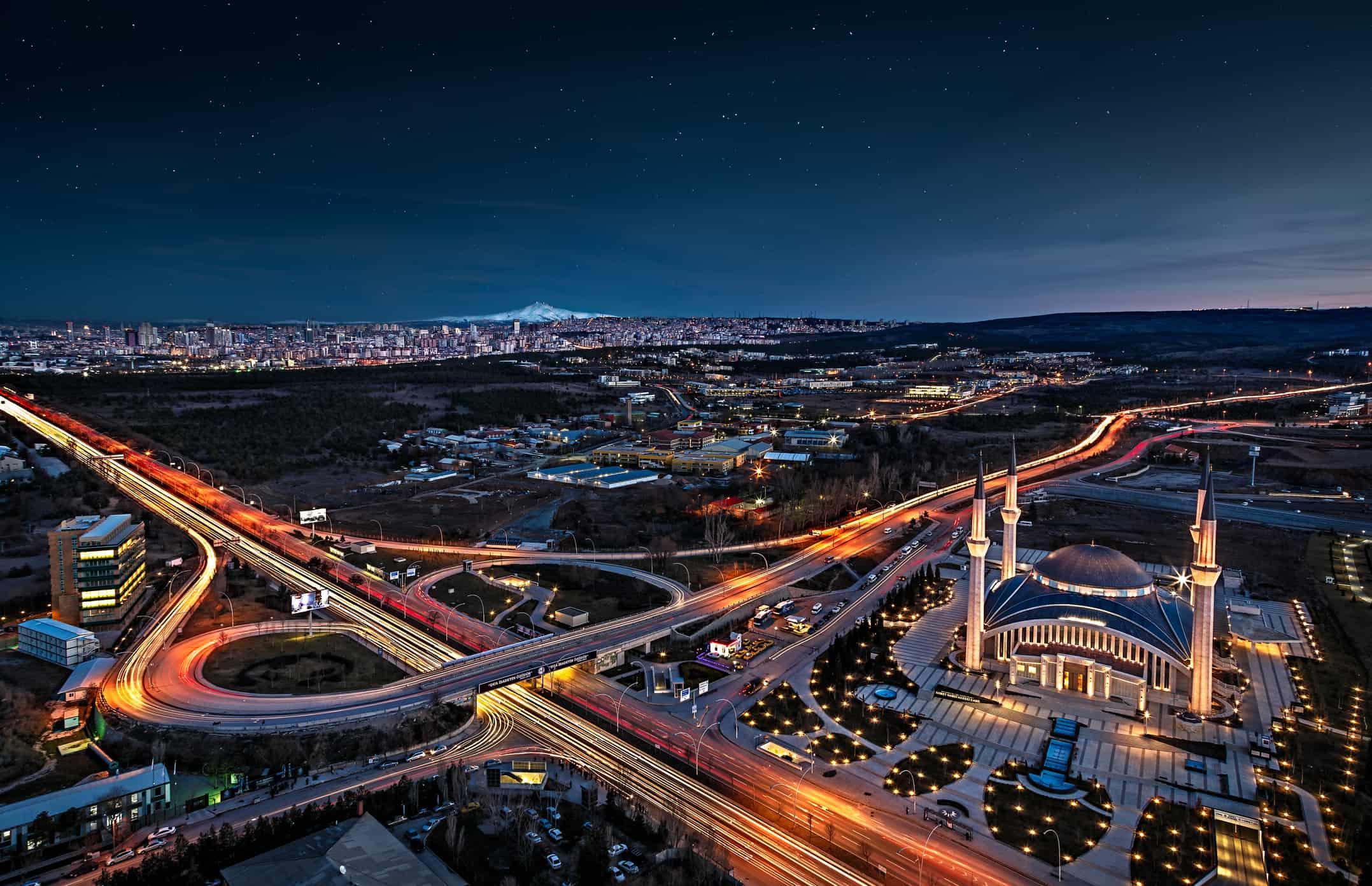Ankara, Turkey at night