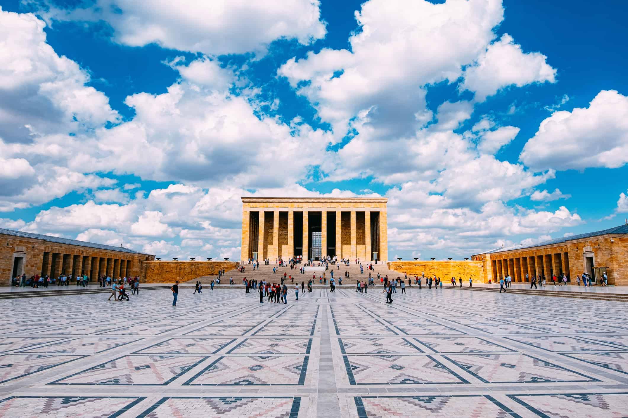 Ataturk's Mausoleum in Ankara, Turkey