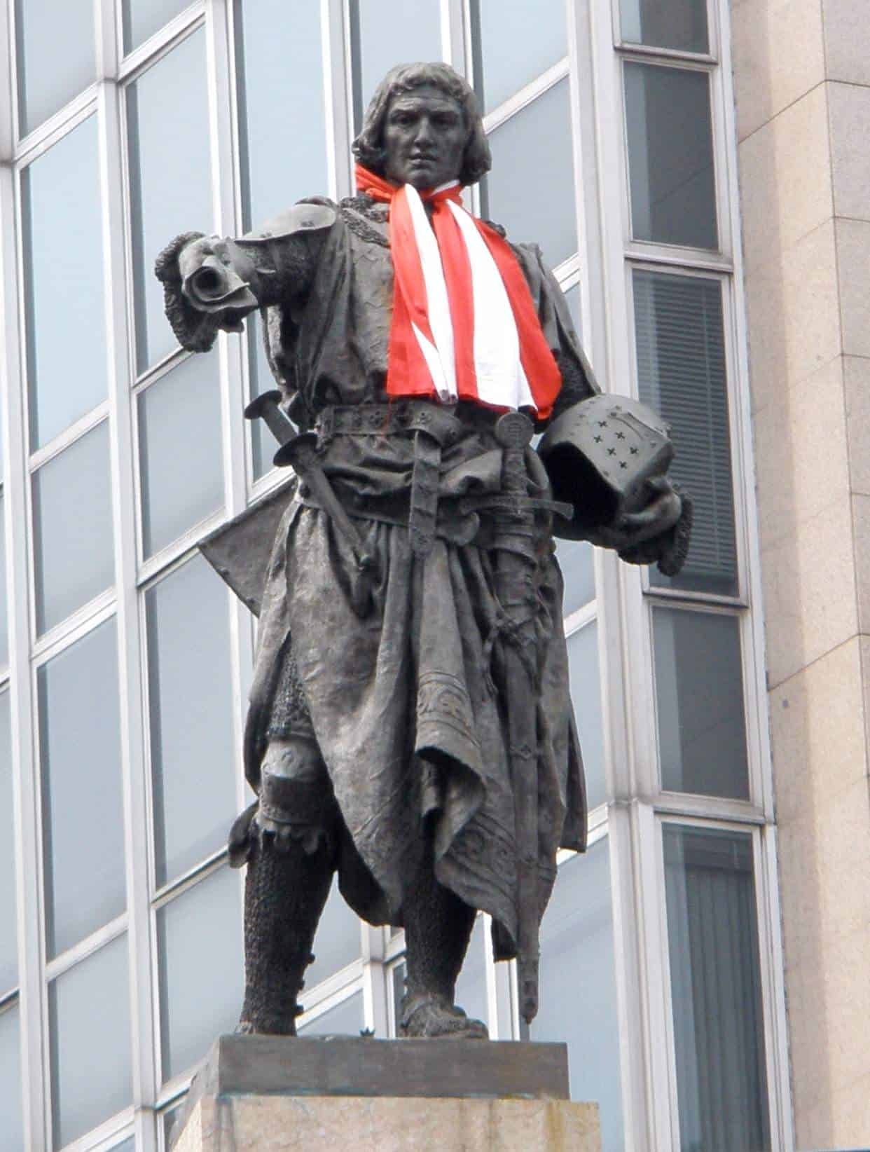 A monument to Diego Lopez V de Haro in Bilbao