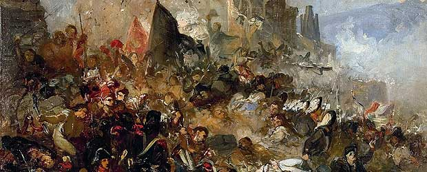 A depiction of the Siege of Girona 1809