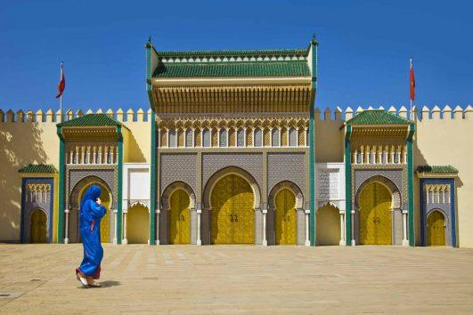 royal palace doors Fez Morocco
