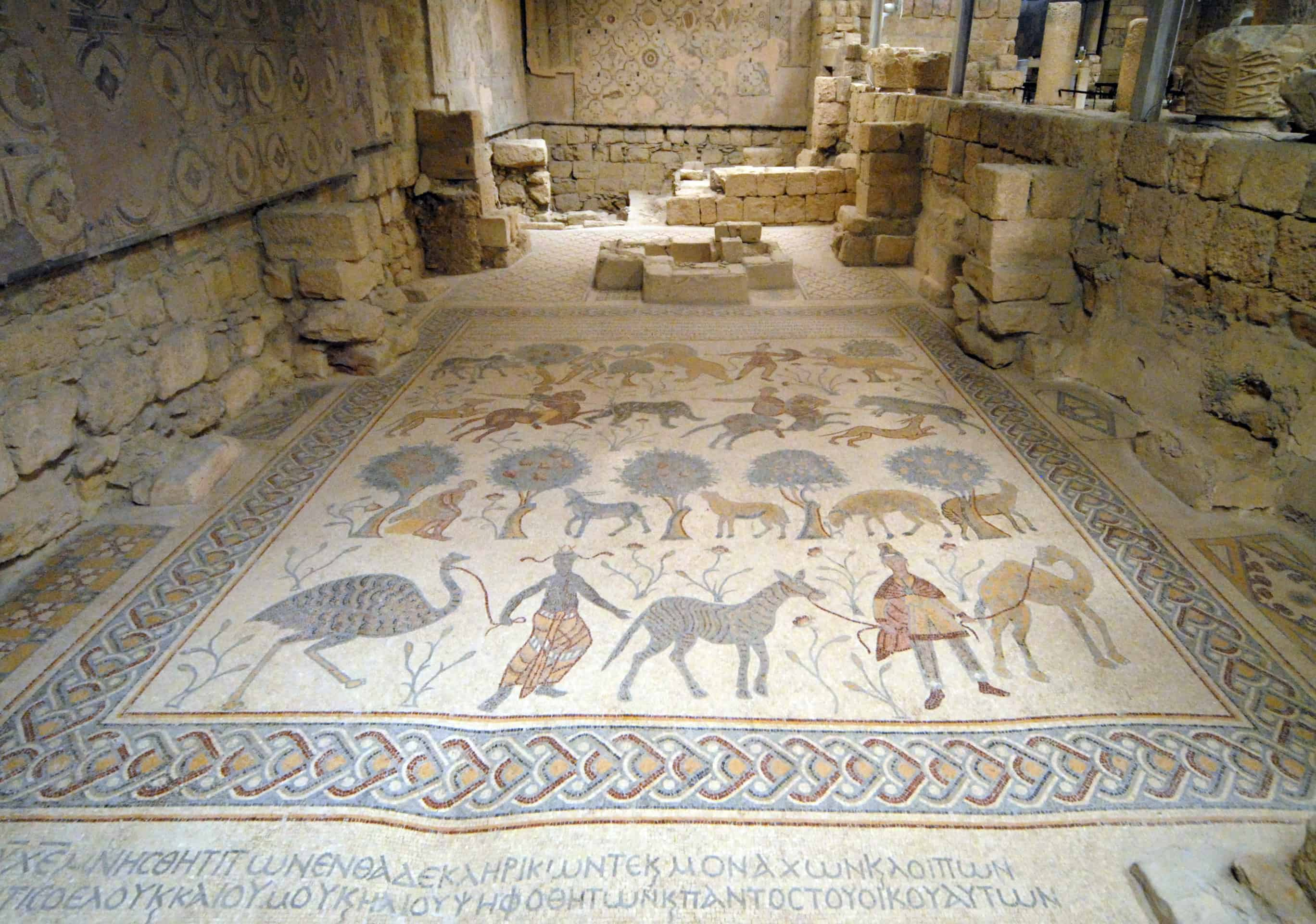 Mount Nebo, Jordan : Byzantine mosaic