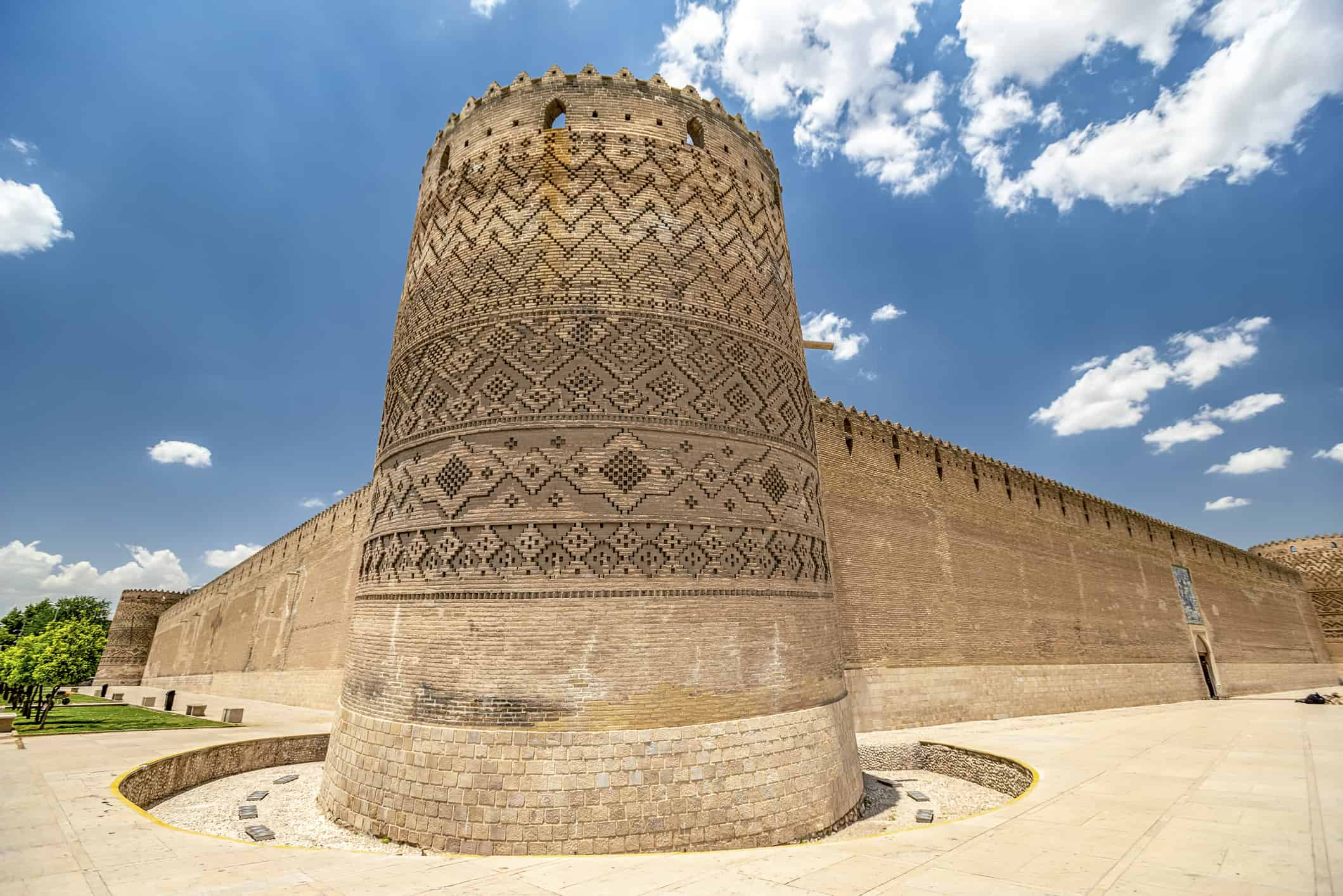 View of the ancient fortress of Karim Khan Citadel in the center of Shiraz, Fars Province ofIran