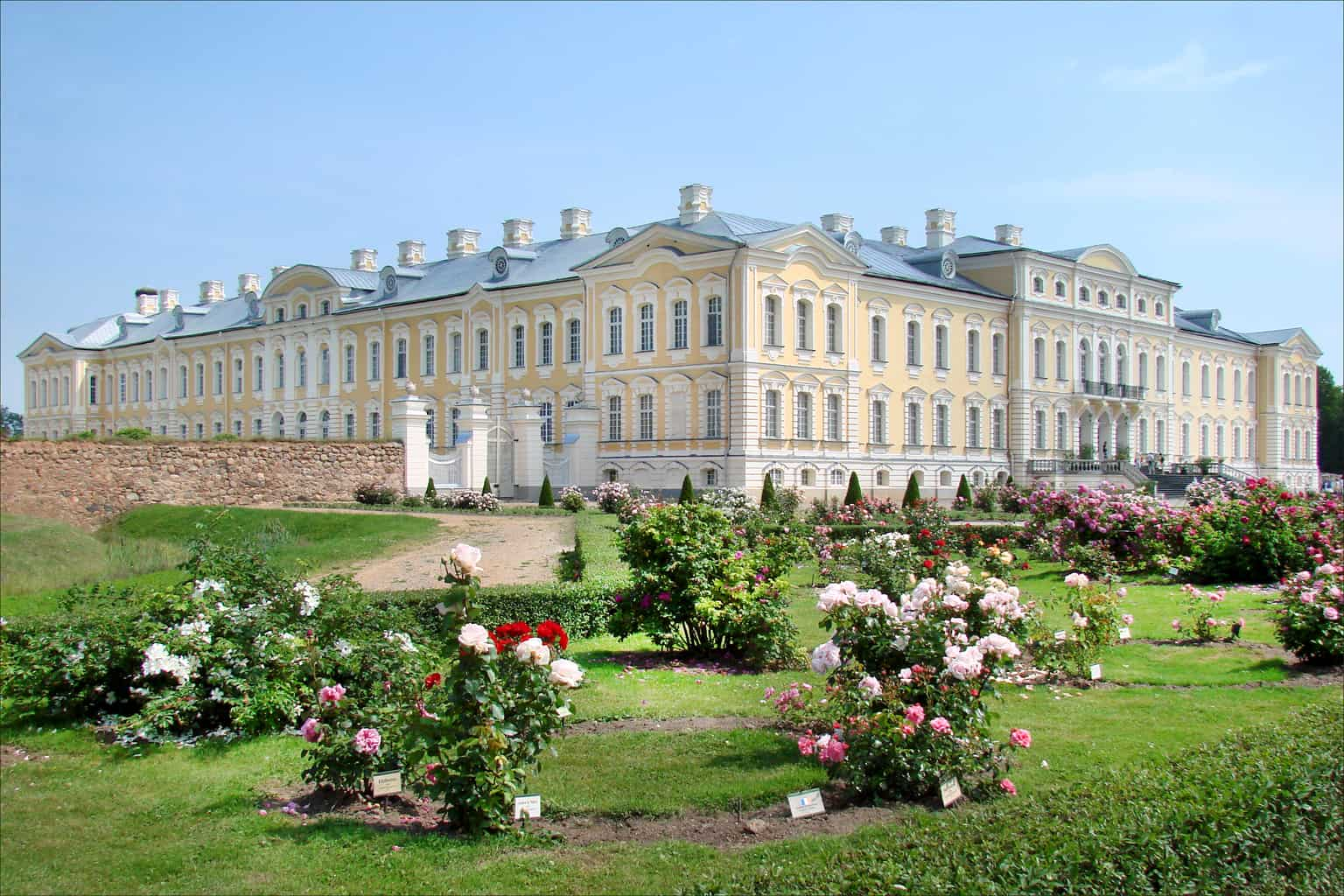 Flowers bloom at Rundale Palace