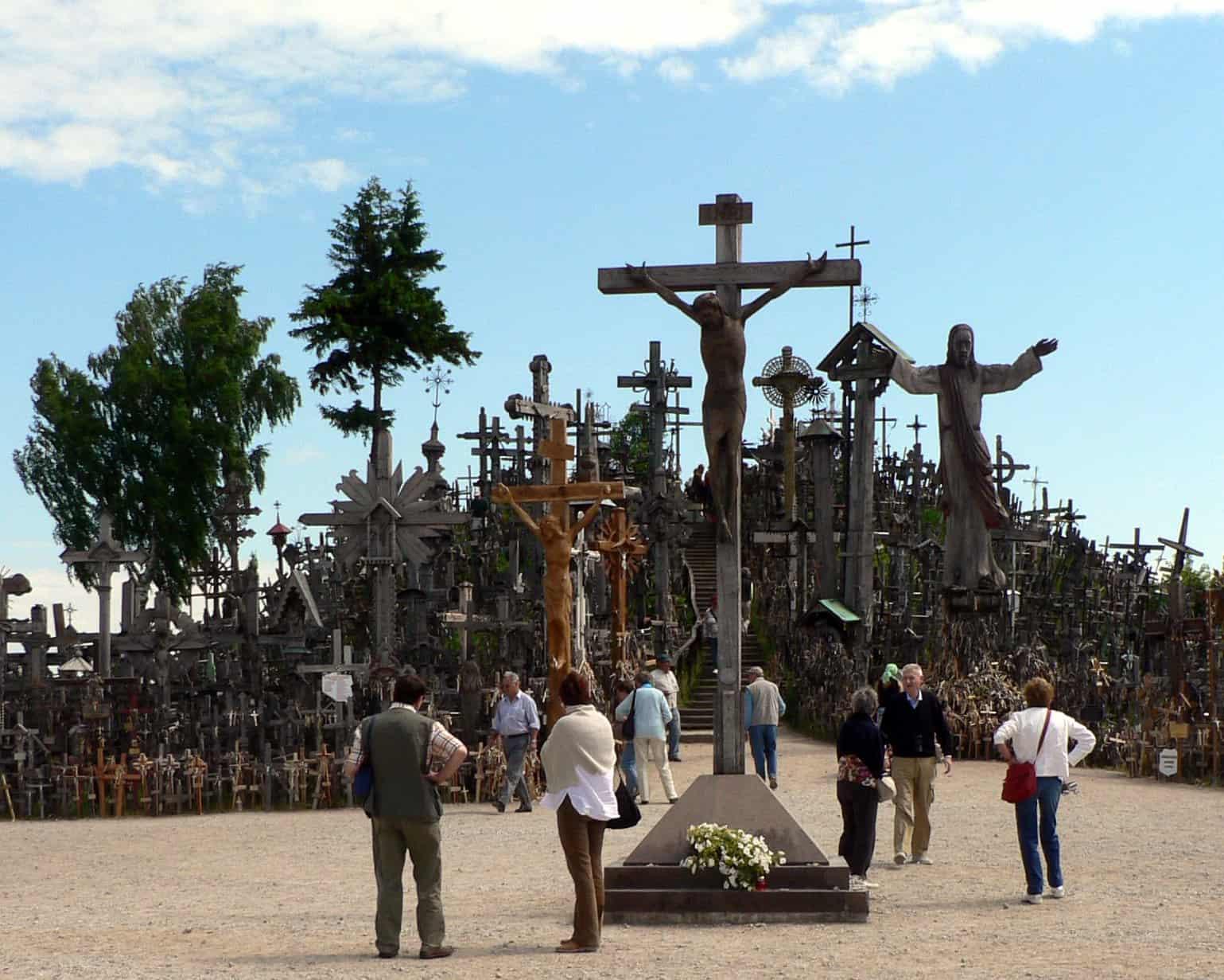 The cross donated by John Paul II