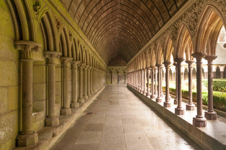 Mont St Michel cloisters