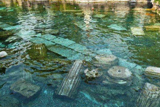 Cleopatra's Pool in Pamukkale, Turkey