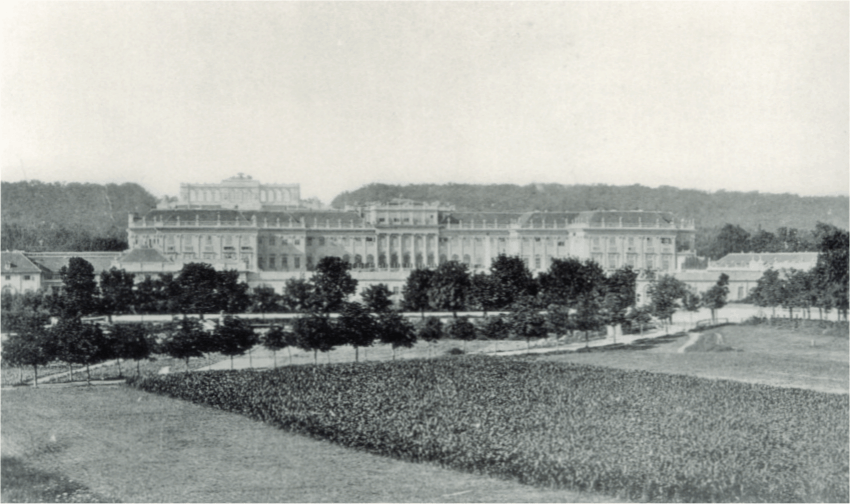 A photo taken of the palace in 1875, Schonbrunn