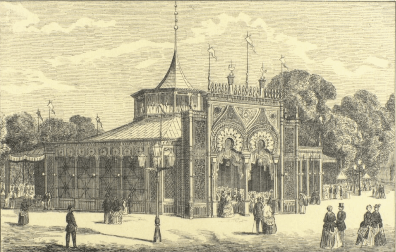 The Concert Hall at Tivoli Gardens in 1864
