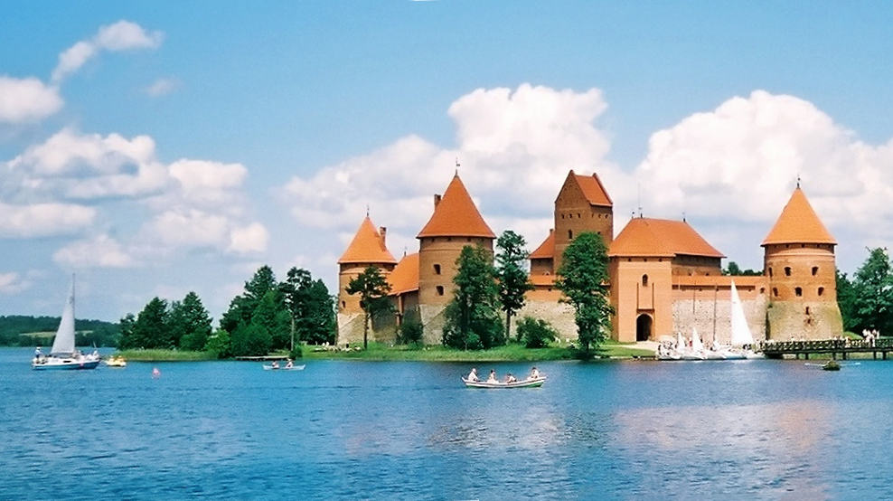 Trakai Island Castle on Lake Galve